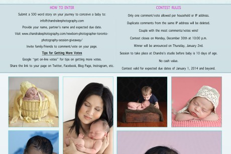 Newborn Photographer Toronto | Photography Session Giveaway 1