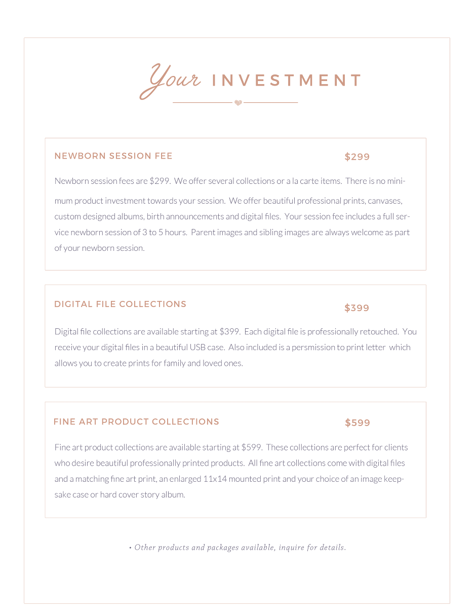 Your Investment