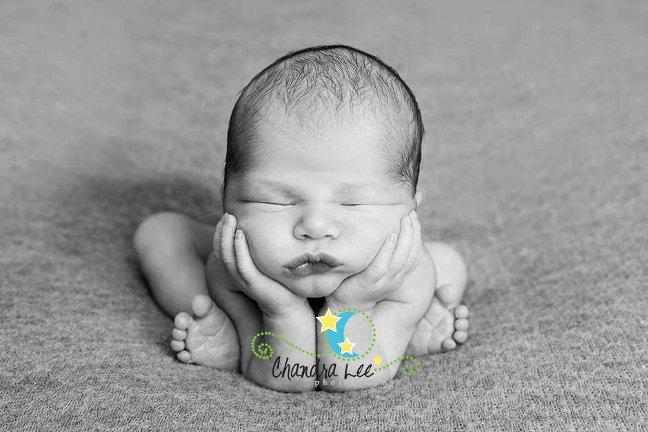 Picture taken at newborn photography session