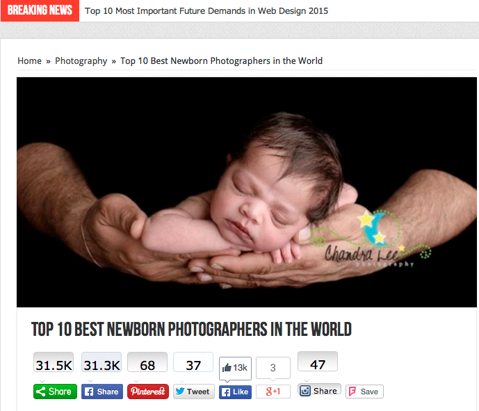 Top 10 Best Newborn Photographers in the World | TopTeny 2015