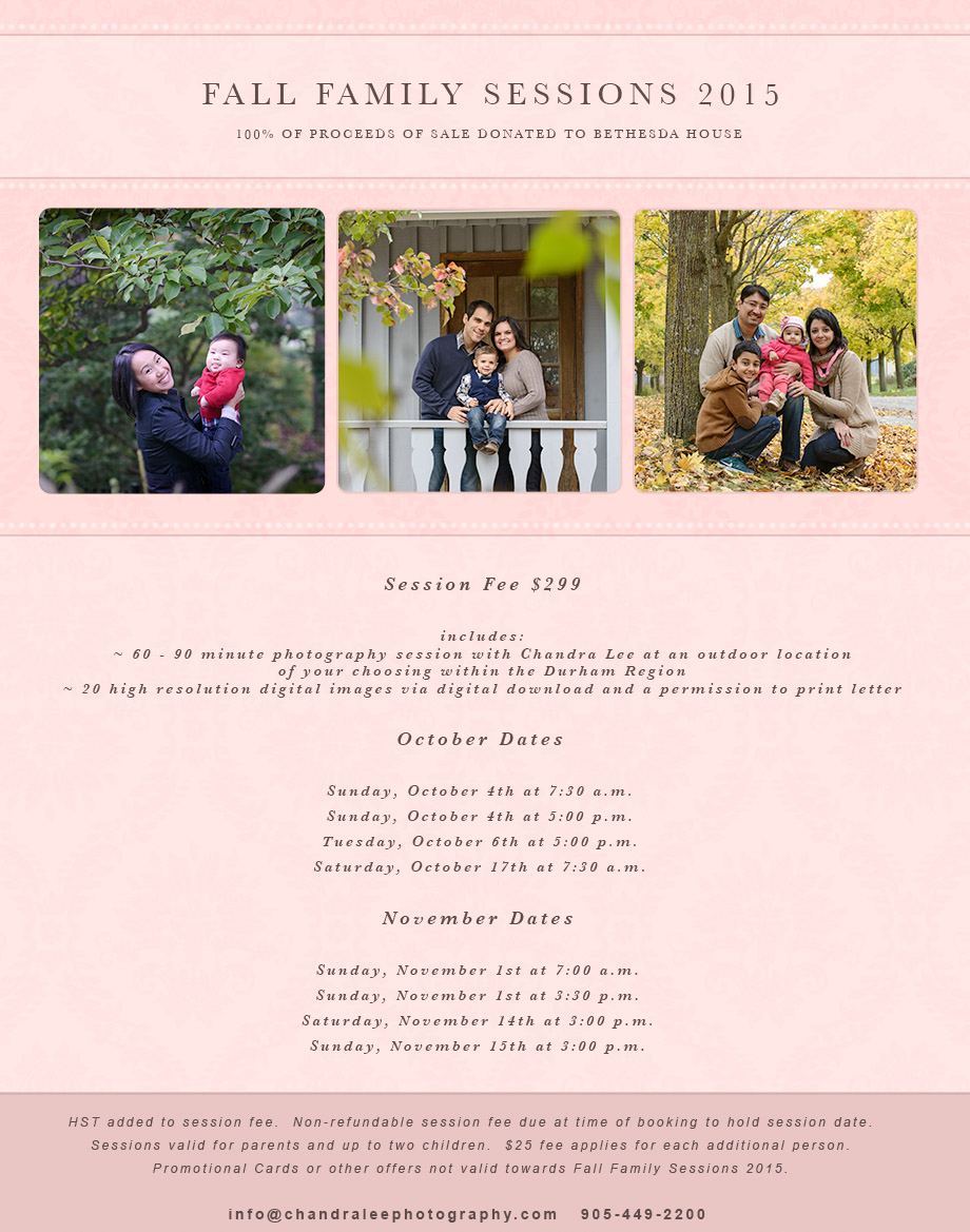Family Sessions November 2015
